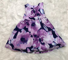 Gymboree Girls Dress Size 3 Purple Tie Dye sleeveless tulle Lined Layers Fluffy