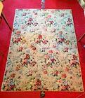 VINTAGE/MCM 50's Roses Floral Wool RUG Harmony House SEARS RARE Farmhouse Boho