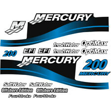 Mercury Outboard Decal Sticker Kit 200 HP Blue