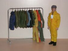 1/6th Scale Uniform Rack with Coat Hangers for Gi Joe