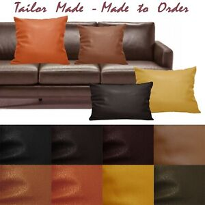 Tailor Made(Cover Only) Faux Leather Sofa Patio Bench Cushion Pillow Case Pb4