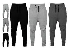 New Mens Slim Fit Pique Tracksuit Bottom Skinny Jogging Joggers Sweat Trousers