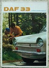 DAF 33 Car Sales Brochure 1968-69 #EP 5130 GB 25,000-0967