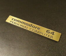 Commodore C64 Label / Aufkleber / Sticker / Badge / Logo 7,7cm x 1,2cm [242b]