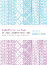 Craft Creations A5 Scrapbook Paper Bold Patterns Pale Blue and Lilac 120gsm