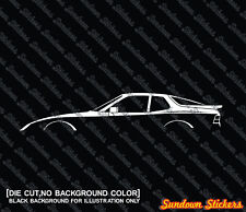 2x silhouette stickers aufkleber - for Porsche 944 | S | turbo oldtimer tuning