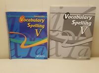 ABeka Book Vocabulary Spelling V Grade 11 Teacher Key Quiz Key Set Lot