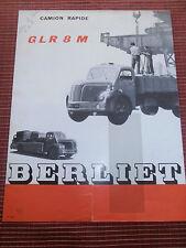 CATALOGUE CAMION BERLIET GLR 8 M  ( ref 48 )