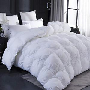 LESNNCIER Cal King Size Goose Down Comforter, Ultra Soft 100% Egyptian Cotton -