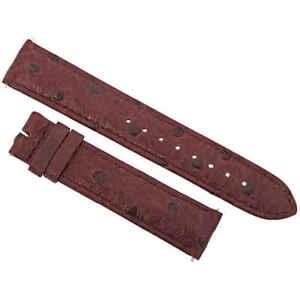 Hadley Roma  Matte Bordeaux Ostrich Leather Strap 19OS00M