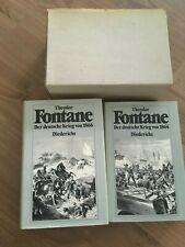 Der deutsche Krieg von 1866 Theodor Fontane Reprint 1979 2 Bände selten