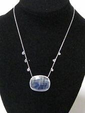 38.26 TCW Natural Rough Sapphire & Diamond Accents Pendant Necklace 14k Gold