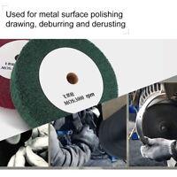 "1Pcs 4""-12"" Non-Woven Grinding Flap Wheel For Metal Polishing Abrasive Tools"
