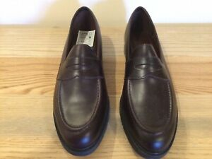Ladies ROCKPORT Penny Loafer Shoes U.K. 7 Wide Brown Leather NEW T1101