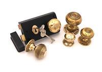 Victorian Brass Door Lock Guard Plate Bumper Hardware Old Antique Mount Ormolu