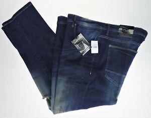 46x32 Modern Culture Premium Denim Blue Jeans Flex Luxury Factory Distressed Rip