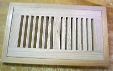 """Red Oak Wood Cold Air Return Register Vent Cover For 10"""" L x 4"""" W Duct  Opening"""