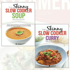 CookNation Skinny Slow Cooker Curry & Slow Cooker Soup Recipe 2 Books Collection