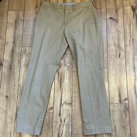J.CREW Mens 34x32 Slim Bedford Khaki Dress Pants (34x34 Tag)