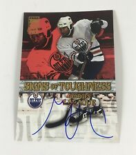 2003 Topps Hockey Autograph Georges Laraque Signs of Toughness Oilers Auto LB01