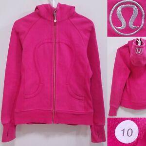 Lululemon Scuba Pink Fuchsia Zipper Sweater Size 10 Large Hoodie Jacket