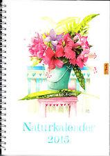 Kriek Bastin – naturaleza calendario 2015 – acabado sofisticado dibujos de flores de naturaleza animales
