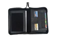 Black Leather Portfolio Padfolio Business Organizer A4 Folder Notepad Zipper