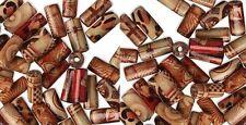 "Lot 100 PAINTED Craft WOOD ART BEADS 12mm Tube Shape ~ Tubular 1/2"" Long"