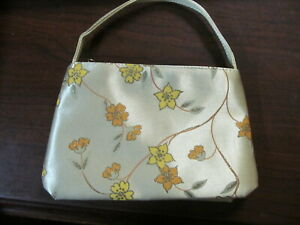 """AVON FLORAL MAKEUP BAG WITH STRAP NOS SEALED  5"""" X 8"""" X 2"""""""