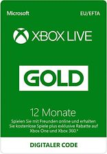 Xbox Live Gold Mitgliedschaft 12 Monate Card - Xbox One / Xbox 360 Download Code