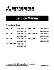 BEST Mitsubishi Forklift FGC25K FGC30K ENGINE AND SERVICE REPAIR SHOP MANUAL CD