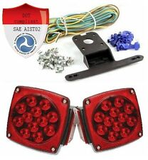 LED trailer lights kit 12v 16 leds DOT Compliant pair Submersible