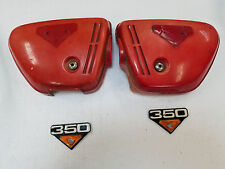 1972 CB350 CL350 SUPERSPORT SCRAMBLER AIR CLEANER COVERS AND EMBLEMS