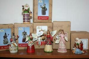 Jim Shore Lot 6 Christmas Hanging Ornament Collection MIB Free Ship