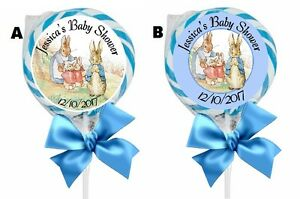 """PETER RABBIT LOLLIPOP ROUND BABY SHOWER PARTY STICKERS FAVORS 1.5"""", 2"""", 2.5""""  1"""