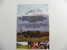 Brochure 1 feuille publicité Mercedes - Benz gagnez un safari au Kenya