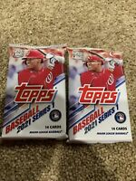 2021 Topps Series-1 14 Cards Per Pack, Factory sealed Hobby box. 2 Pack RC, AUTO