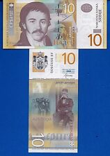 Serbia P-54b 10 Dinara Year 2013 Uncirculated Banknote Europe