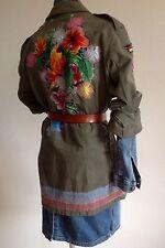Parka Unikat costum made 40/42 Petra Prelle Design Hamburg Army Floral Vintage