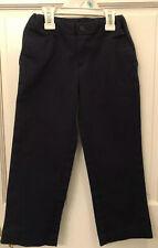Girls 'Lands' End' Navy Uniform Pants Size 7 With Adjustable Waist Feature Euc!