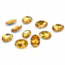 10pcs 14mm Gem Oval Shape Yellow Sapphire Natural Loose Gemstone Jewelry Gifts