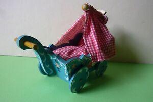 Dora Kuhn Schlafzimmer / Puppenwagen für Puppenstube <Bauernmalerei>