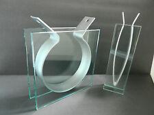 Modern Contemporary Art Glass & Steel Vase Sculptures simple, unique & eclectic