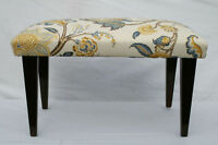 English Hepplewhite Mahogany  Window Hall Bench Newly Upholstered, Circa 1920""