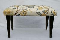 "English Hepplewhite Mahogany  Window Hall Bench Newly Upholstered, Circa 1920"""