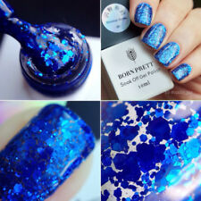 Glitter Gel Nail Polish Soak Off UV LED Platinum Shimmer Shiny Manicure Salon