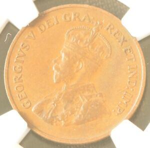 1926 Canada One Cent Copper Coin NGC AU 55 BN