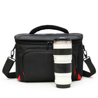 Waterproof Shoulder Bag Carrying Case For Canon Nikon DSLR SLR Camera W/ Lens