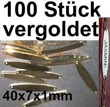 100x Plaque Gravée Bracelet Plaqué or Magasin de Bijoux Orfèvre Gravurschild