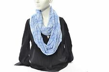 Collection XIIX Cotton Blend Scarf NO Size Sky Blue Regular Loop